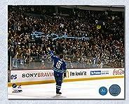 Trevor Linden Vancouver Canucks Autographed Last Game Farewell Wave 8x10 Photo