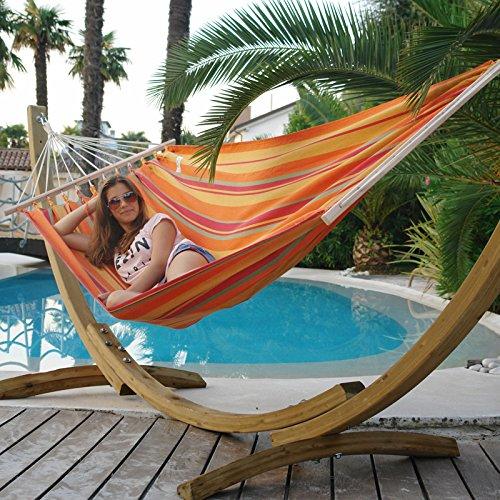 Hängematten Set Holzgestell mit Stabhängematte Kolumbiana SUN