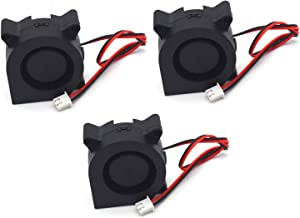 "Antrader 12V DC Dual Ball Bearing Brushless Radial Blower Cooling Fan 50x50x15mm for DIY 3D Printer Extruder Humidifier 2"" x 2"" x 0.55"" Pack of 3"