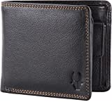 WildHorn Pure Luxuries Genuine 8 card Black Men's Leather Wallet