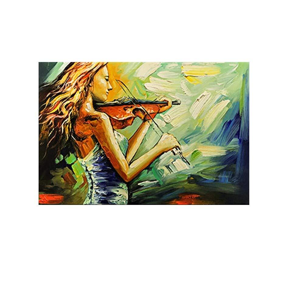 OME&MEI Pintado A Mano Pintura Al Óleo Violín Sala Niña Hotel Sala Violín De Estar Dormitorio Pintura Decorativa No Frame-40X60Cm bfda19