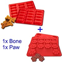 Dog Bone and Paw Silicone mould trays, DIY dog treats