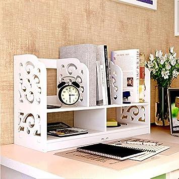 Freestanding Book Shelf Desk Top Organization Easy Mini Desktop Racks Desklittle