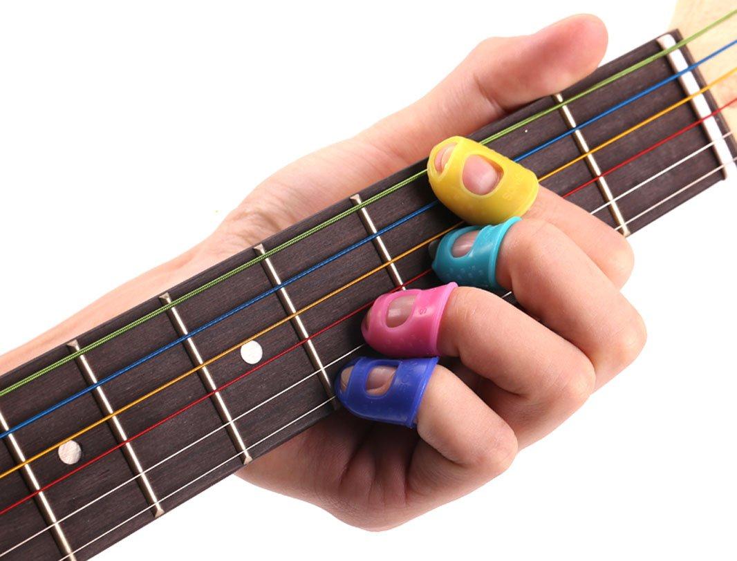 Amazon.com: 15Pcs Guitar Fingertip Protectors Silicone Finger Guards Random Color (S/M/L, Each Size 5 Pcs): Beauty