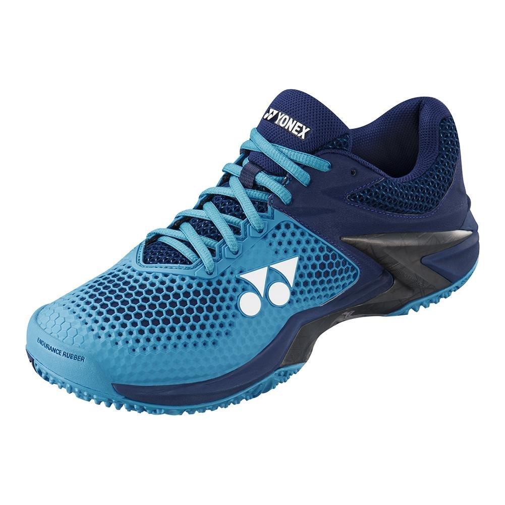Yonex Power Cushion Eclipsion 2 Men's Clay Court Tennis Shoe, Blue/Navy (10)