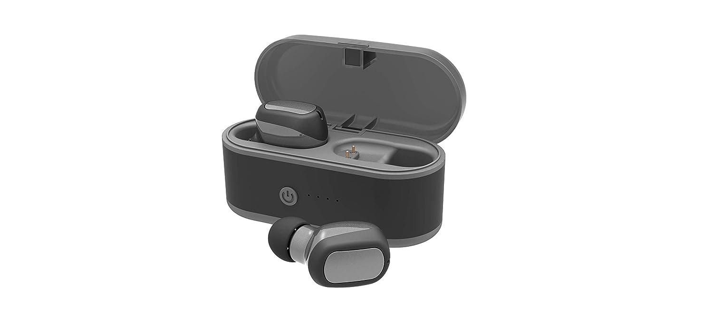 LightningSPT Bluetoothヘッドホン ワイヤレスイヤホン ステレオイヤホン スポーツヘッドセット Bluetoothインイヤーイヤホン Bluetooth 5.0 イヤホン T6 IPX5防水 ミニサイズ iPhone Samsungなどに対応 T6 B07N5HTPFR グレーブラック