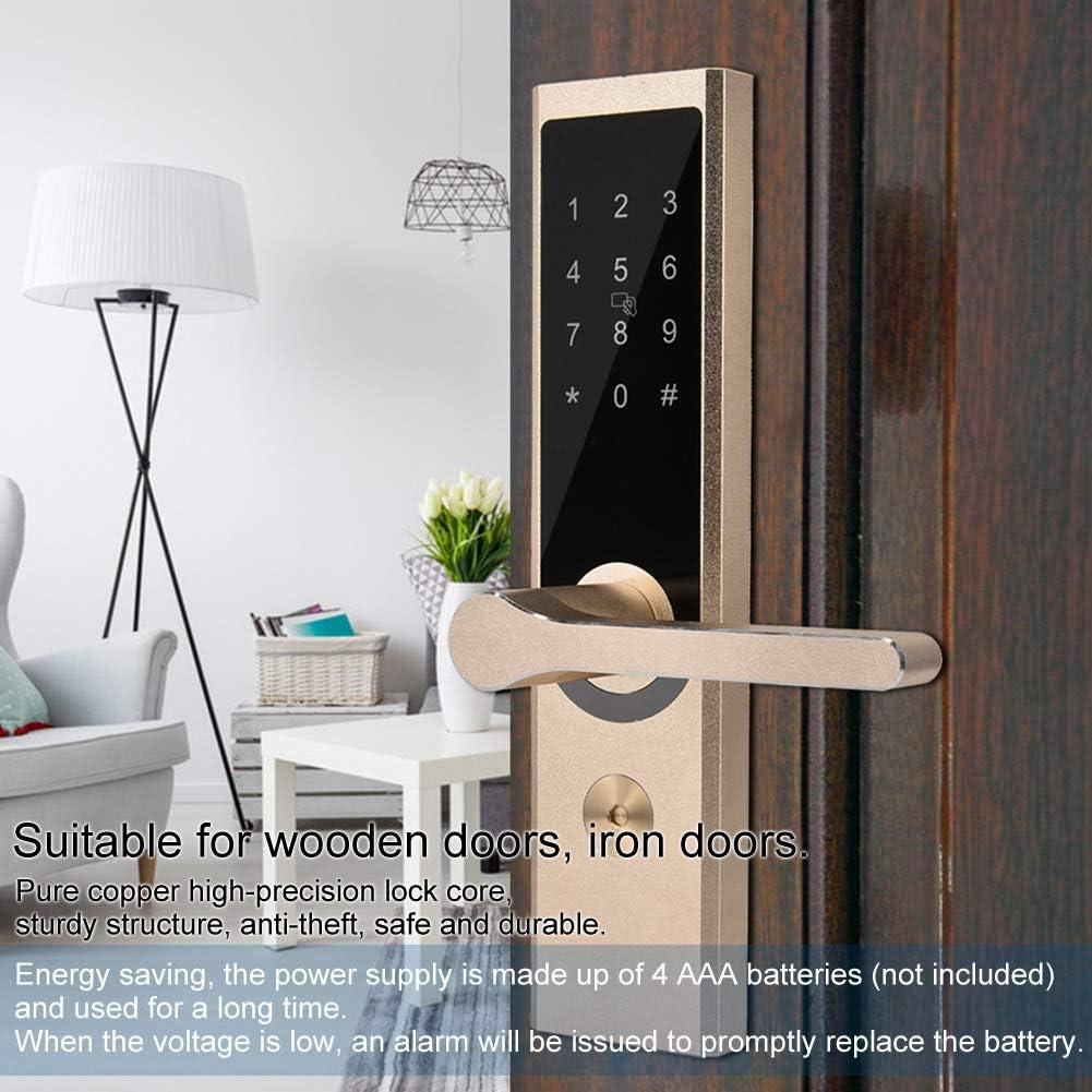 Smart T/ürschloss A4 WiFi BT Chiffre Remote Smart Lock 4 in 1 MI Karte//Passwort//APP//Mechanischer Schl/üssel Elektronische Schl/össer Entsperren f/ür Android 4.3//iOS 7.0 f/ür Home Hotel Office Security