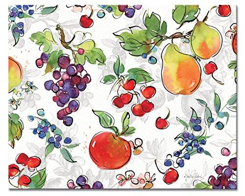 CounterArt 'Orchard' Glass Cutting Board, 15 x 12