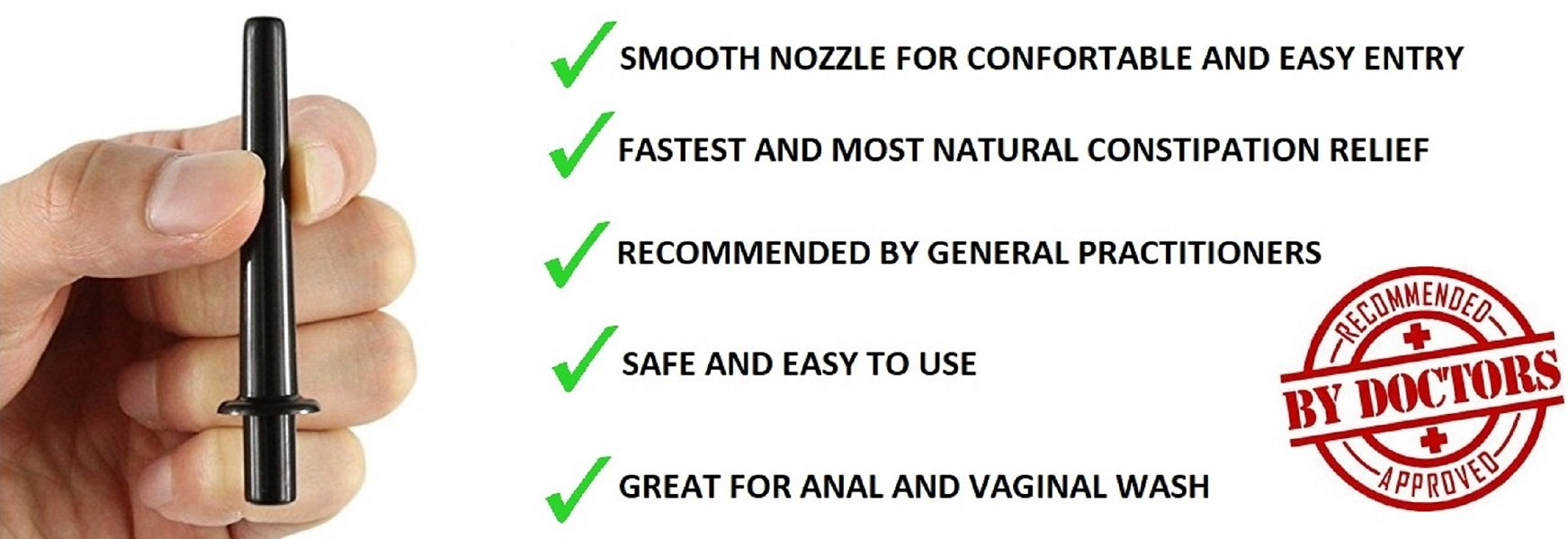 Premium Enema Bulb Douche Safe Comfortable Nozzle Anal Silicone Medical Enema Kit for Men Women FDA Certified Fast Constipation Relief