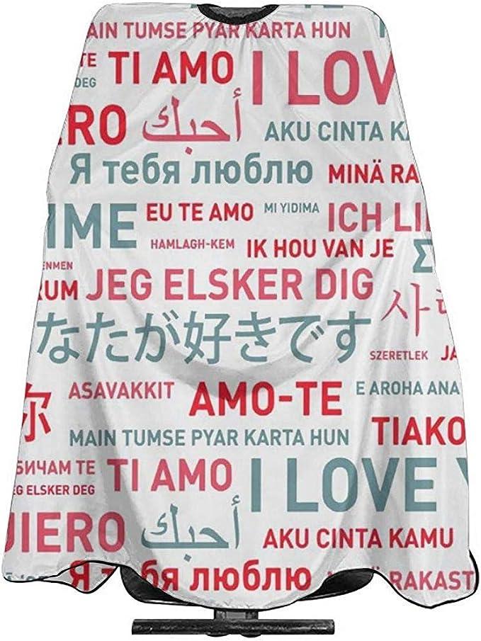 Capa Del Salón Love In World Languages Cubierta Para Cortar ...