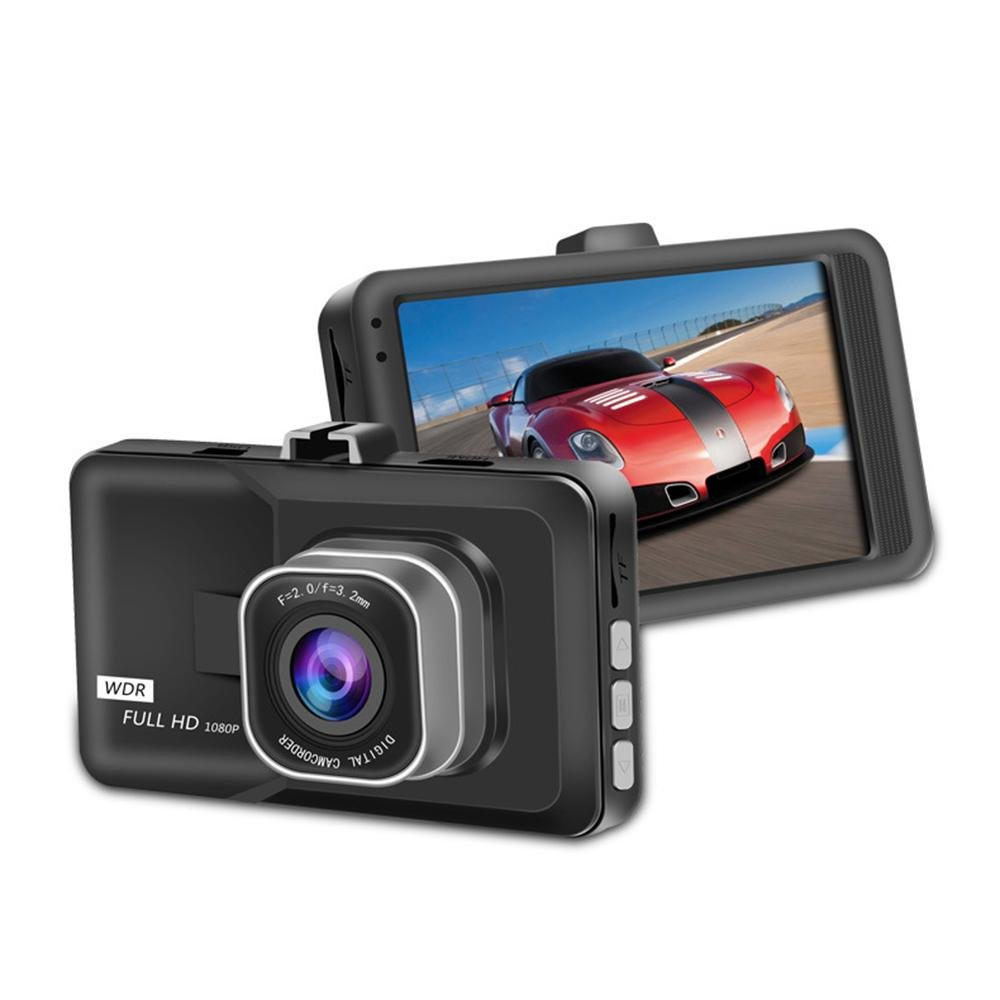 Driving Recorder, KOBWA Car Dash Cam Camera, FHD 1080P Driving Recorder 170° Wide Angle Night Vision with Rear Cam WDR G-Sensor Motion Detection Parking Monitoring Loop Recording