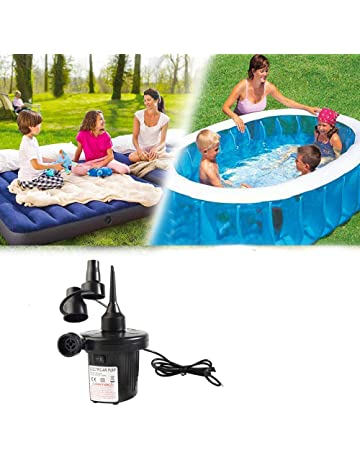 PORTABLE RECHARGEABLE AIR BED AIRBED PADDLING SWIMMING POOL LILO BEACH BALL PUMP