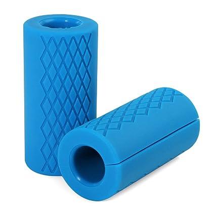Pellor – Agarraderas universales de silicona para pesas, barras, mancuernas. Para fitness