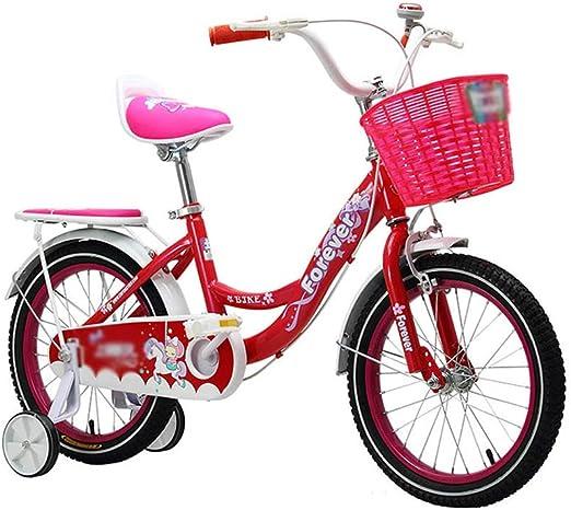 DT La Nueva Bicicleta para niños Multicolor 16 Pulgadas Cochecito de bebé 3-5-6-8 años Pedal de Bicicleta Hombre niña (Color : Red): Amazon.es: Hogar