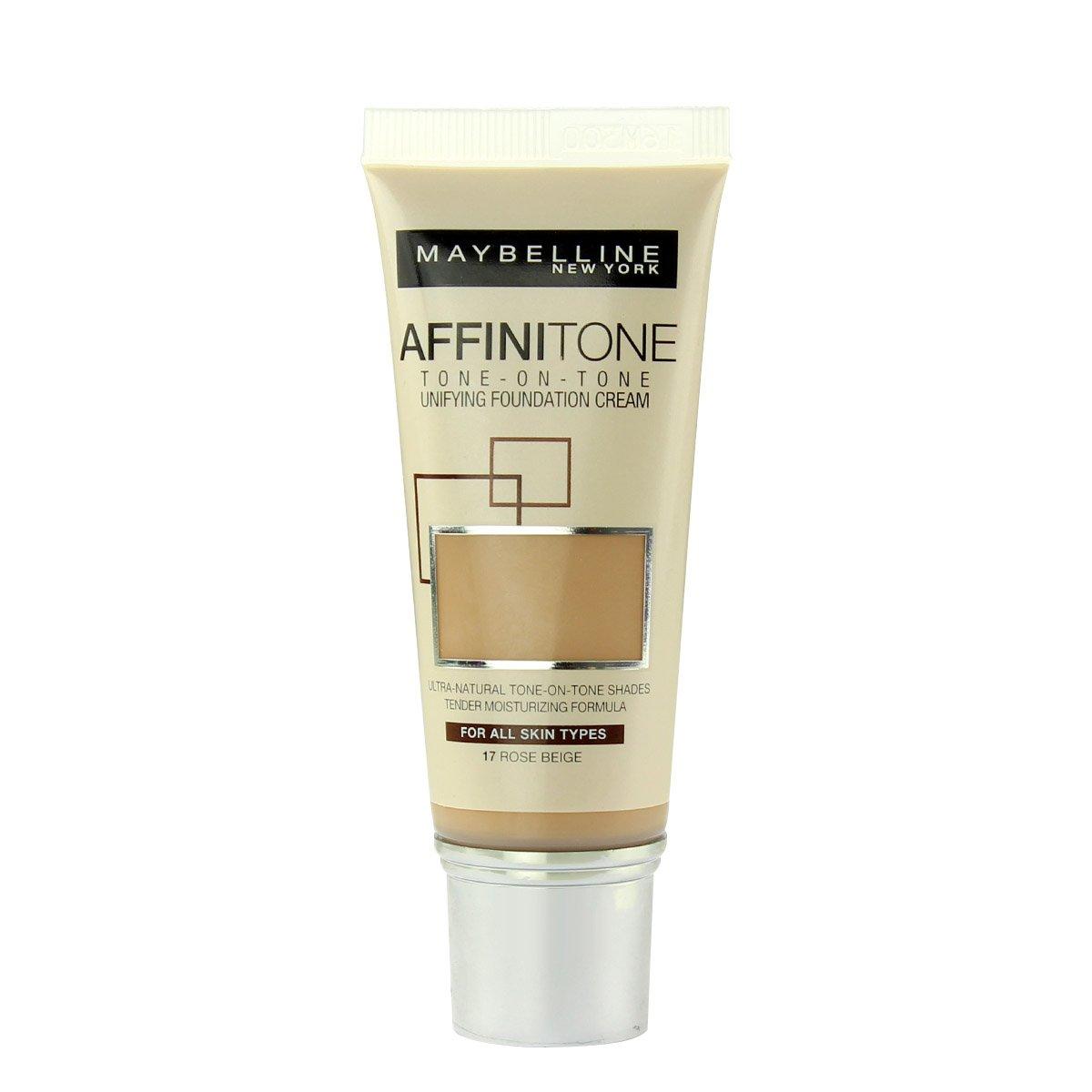 Maybelline Affinitone Foundation Unifying Cream (17 Rose Beige) 30ml 260292