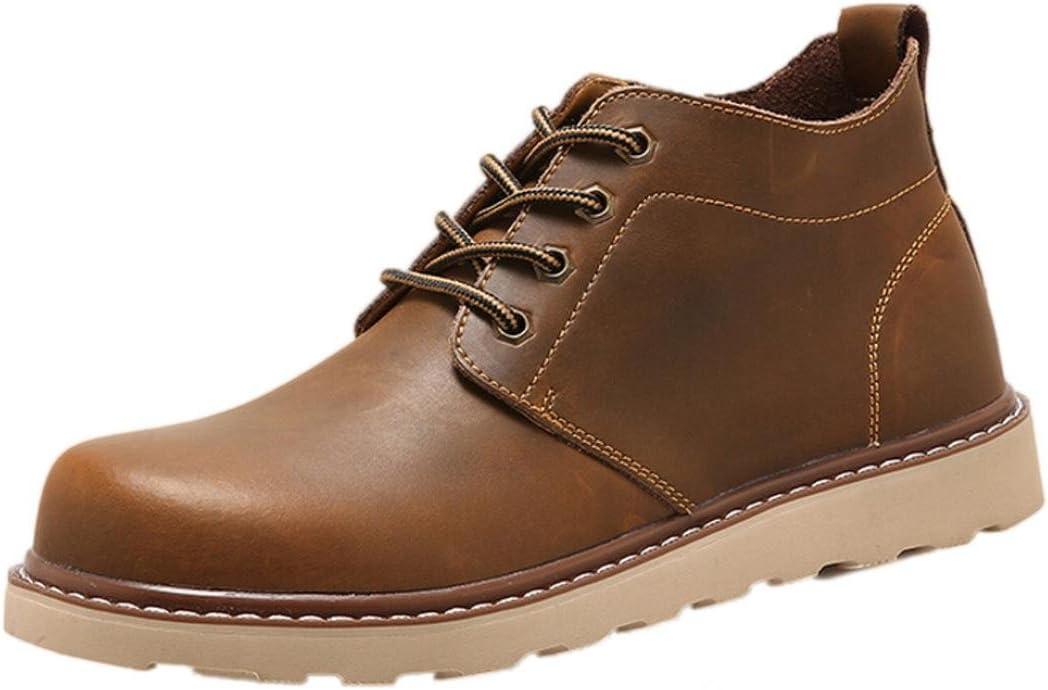 Zapatillas De Hombre Zapatos de vestir Hombres Zapatos con cordones Para hombre Botas Zapatos de hombre (Café, EU42 /CN 43)