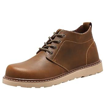 93023a4675 Amlaiworld Zapatillas De Hombre Zapatos de vestir Hombres Zapatos con  cordones Para hombre Botas Zapatos de