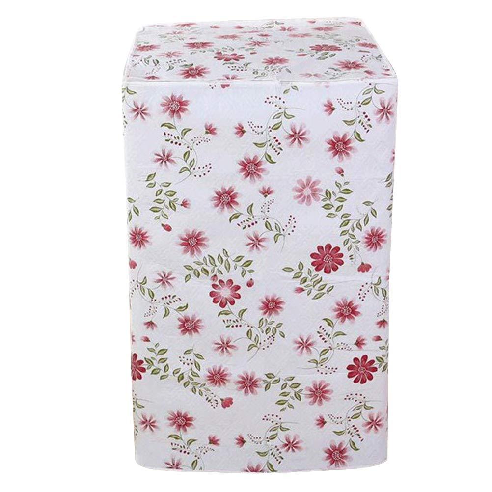 Vosarea Schutzbezug fü r Waschmaschine, Frontlader fü r Waschmaschine, Wasserdicht, 56 x 60 x 82 cm (Motiv Rote Blume)