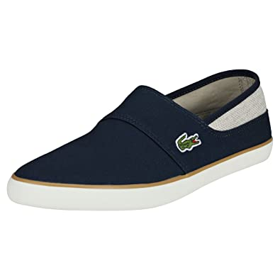a99c31601 Lacoste Marice 218 1 Cam Slip ONS Trainers in Navy Blue   Natural Beige  735CAM0077 67F  Amazon.co.uk  Shoes   Bags
