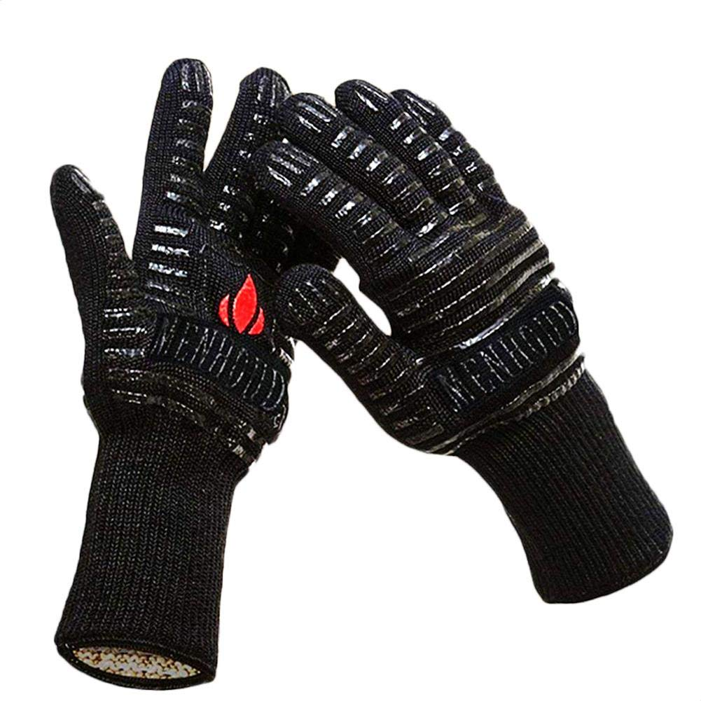 dem.w Cooking Gloves Heat Resistant - SPD 932°F Extreme High Heat BBQ Grill Gloves Temperature Protection, Oven Mitts, Welders Kevlar Aramid Oven Gloves