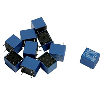 uxcell 10 Pcs DC 9V Coil 10A SPST 5 Pin Electromagnetic Relays PCB Type JQC-3F: Automotive