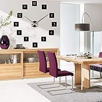 eiAmz DIY Wall Clock, 3D Mirror Stickers Large Wall Clock Frameless Modern Design Large Watch Silent Home/Office/School Number Clock Decorations Gift
