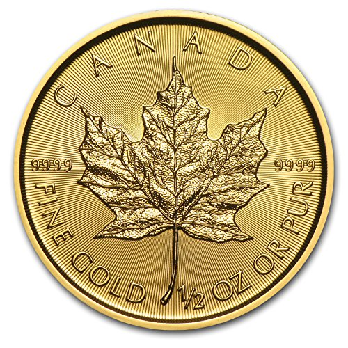 2017 CA Canada 1/2 oz Gold Maple Leaf BU 1/2 OZ Brilliant Uncirculated