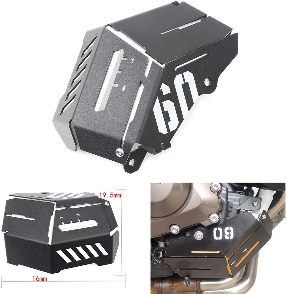 ROWEQPP for Yamaha MT-09 FZ-09 FJ-09 MT-09 Tracer//Tracer 900 2014-2016 Motorcycle Accessories Coolant Recovery Tank Shielding Cover Gold