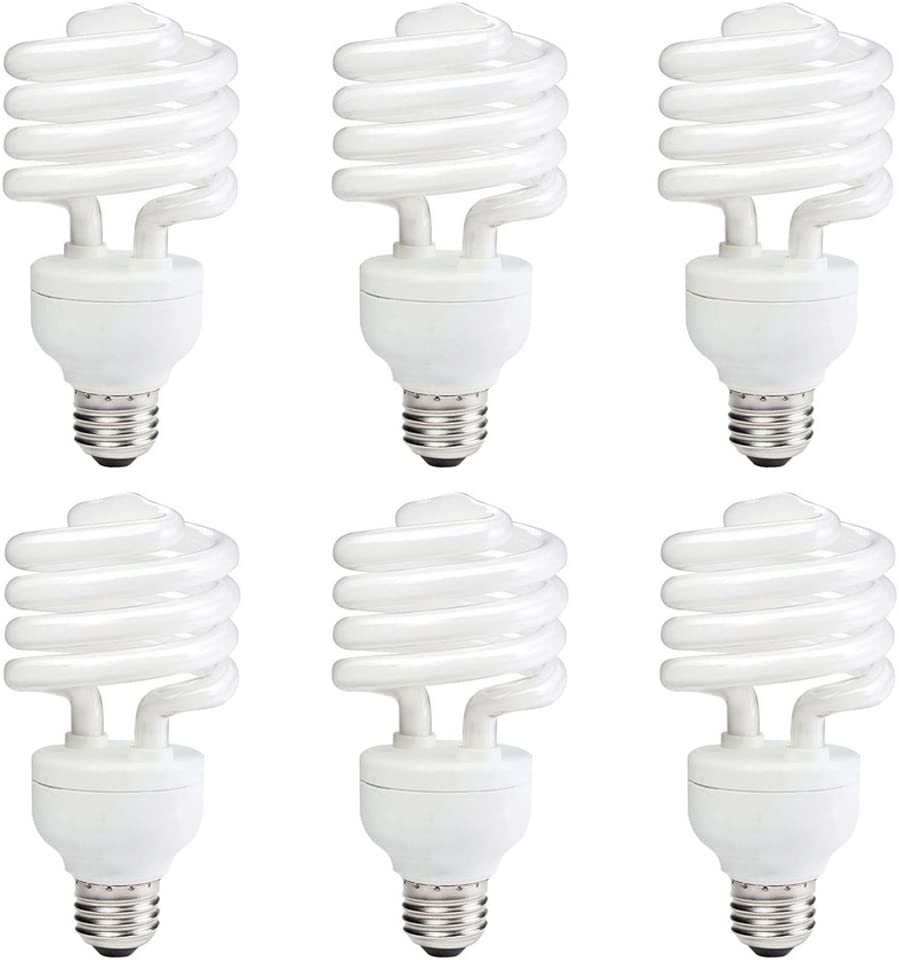 Philips LED 414052 Energy Saver Compact Fluorescent T2 Twister (A21 Replacement) Household Light Bulb: 3500-Kelvin, 23-Watt (100-Watt Equivalent), E26 Medium Screw Base, Neutral White, 6-Pack