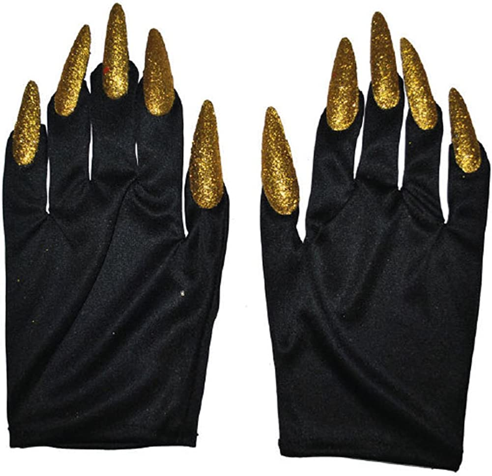 Costume Claws Halloween Witch Vampire Fancy Dress Black Cat Claw Gloves