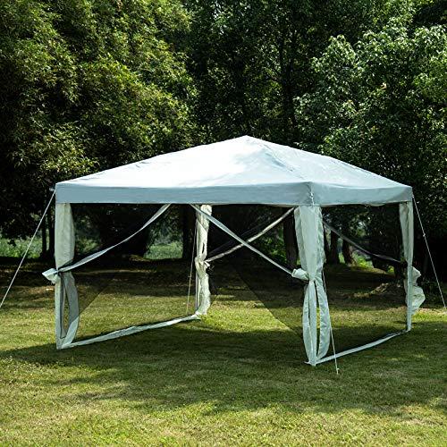 Cheap  Uenjoy Canopy Gazebo Outdoor 10'x10' Pop Up Party Tent Mesh Mosquito Net..