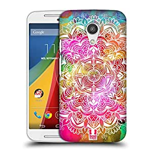 Head Case Designs Watercolour Mandala Doodles Hard Back Case for Motorola Moto G (2nd gen)