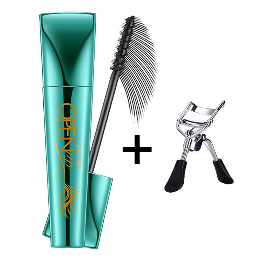 3d Fibre Lash Mascara waterproof longue durée Naturel à friser Vegan Noir cils Recourbe-cils (inclus) Hinmay