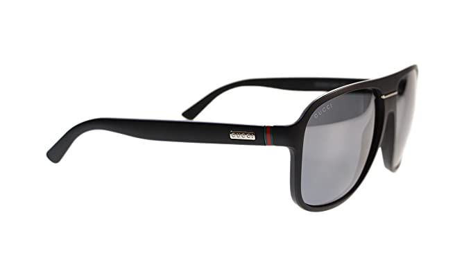 f32f057c3dc Gucci Men s Sunglasses GG1076 DL5 Matte Black Grey Mirror Lens Aviator  Authentic 59mm  Amazon.co.uk  Clothing