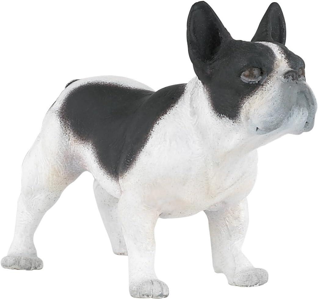 Bulldog francese bianco e nero Papo cod. 54006