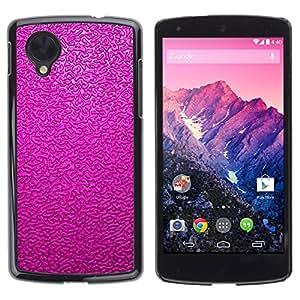 TopCaseStore / la caja del caucho duro de la cubierta de protección de la piel - Glossy Texture Paint Wallpaper - LG Google Nexus 5 D820 D821