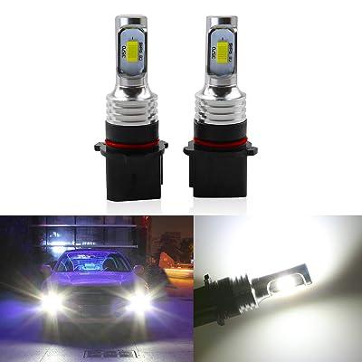 Jackma555 2pcs PSX26W LED Fog Light Bulbs, 9005 LED Bulb, 9006 Fog Lights Lamp Replacement - 3570 CSP Chips 6000K white Super Bright: Automotive