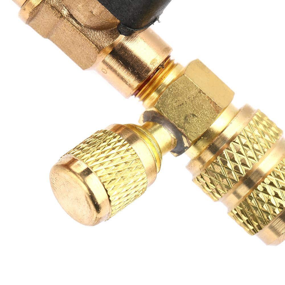 """1//4y 5//16/"""" Herramienta de refrigeraci/ón del instalador del removedor r/ápido de llave de n/úcleo de v/álvula para R134 R22 HVAC"""