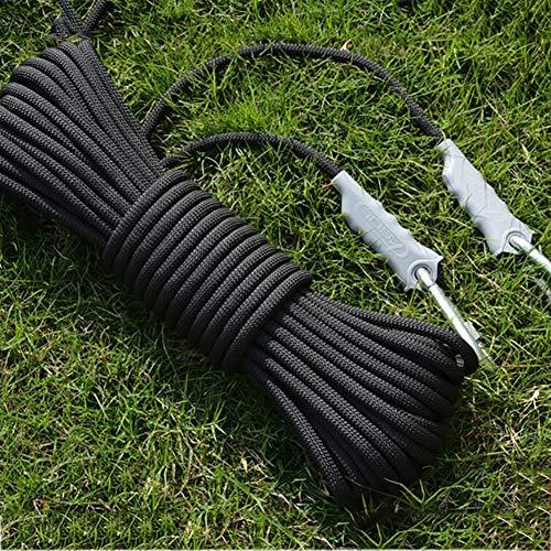 亜熱帯束ねる意気込みアウトドアロッククライミング安全ロープ、直径9.5ミリメートル、12KNプル高強度アクセサリーコードクライミング機器ロープ火災救助、ハイキング、登山のための2つのフック (色 : C, サイズ : 9.5 mm wide 20 m long)