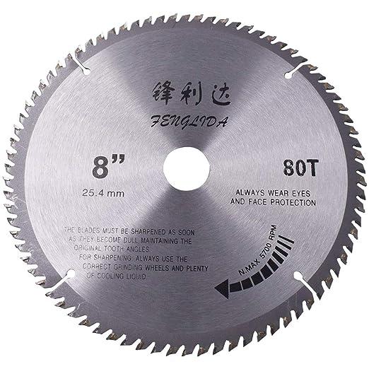 BESLIME Hoja de sierra circular de madera con 80 dientes, un ...
