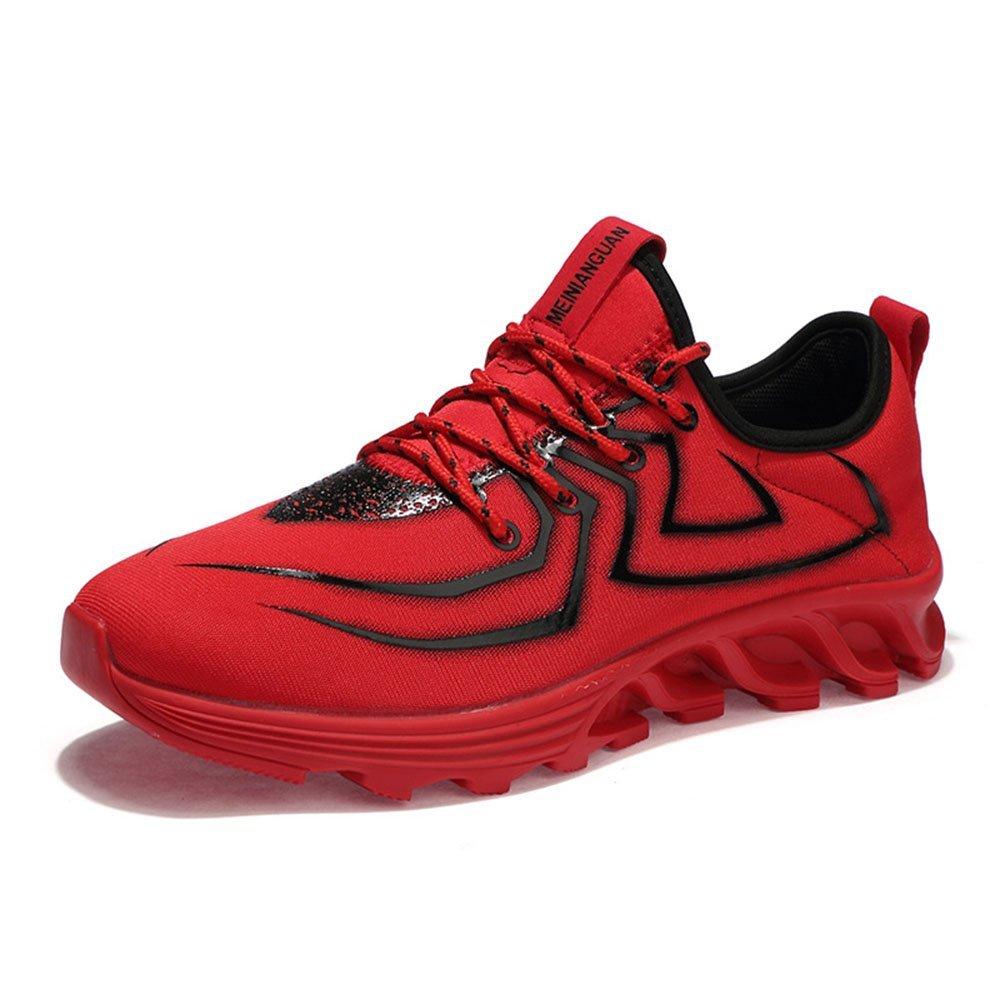 FLYMD Running Shoes Zapatos Deportivos de Primavera y Verano, Zapatos Casuales Respirables Rojos, Zapatos Corrientes para Hombres (23.0-27.0cm) Sneakers for Men (Color : Rojo, tamaño : 38 EU) 38 EU|Rojo