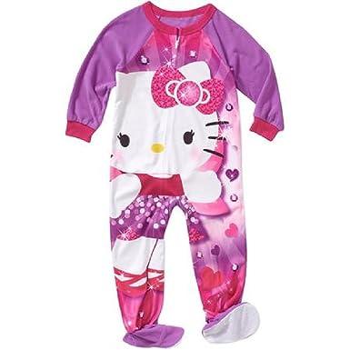3b81561e4 Amazon.com  Hello Kitty Girls Toddlers Footed Pajamas Blanket ...