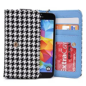 Kroo HTC One Remix Accessories | Classic Retro Houndstooth Wallet for Women