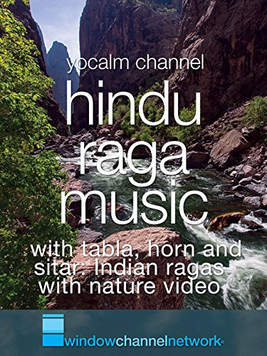 Hindu Raga Music with tabla, horn and sitar: Indian ragas with nature video