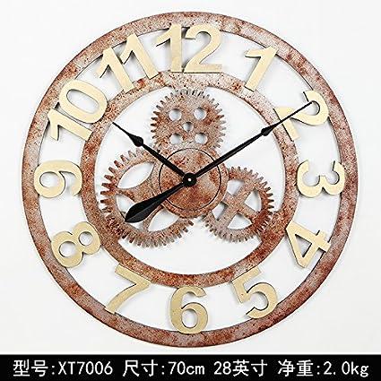 Y-Hui engranaje grande Reloj de pared Reloj de pared Reloj de Café Bar de