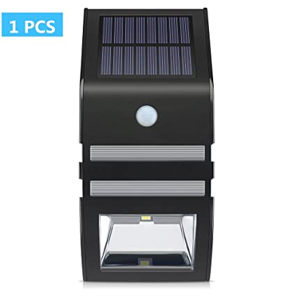 CDQ luces de Solar con Sensor de movimiento, Super Bright LED Soporte De Pared Path