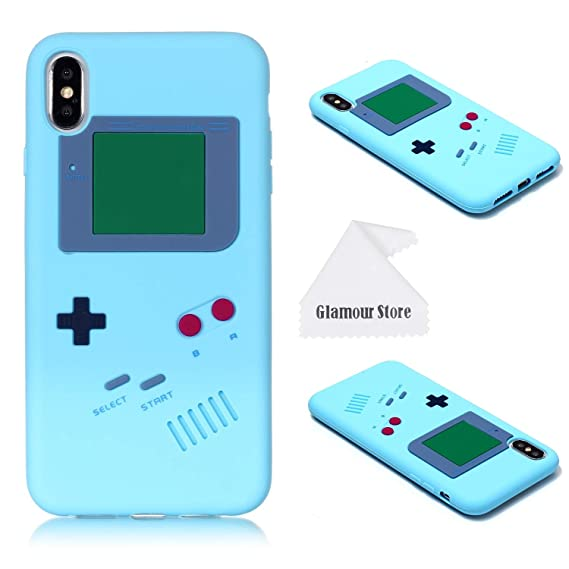sneakers for cheap af9c1 bed9d iPhone Xs Max Case,Retro 3D Game Boy Gameboy Design Style Soft Silicone  Cover Case for Apple iPhone Xs Max 6.5 inch+ Free Cleaning Cloth As a Gift  ...