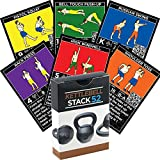 Stack 52 Kettlebell Exercise Cards. Kettlebell Workout Playing Card Game. Video Instructions Included. Learn Kettle Bell Moves Conditioning Drills. Home Fitness Training Program. Review