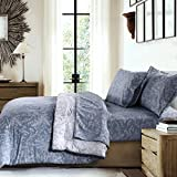 Oversized King Duvet Cover 110 X 98 Southshore Fine Linens - Winter Brush Print - Reversible Comforter Sets, 3 Piece Set, King / California King, Blue