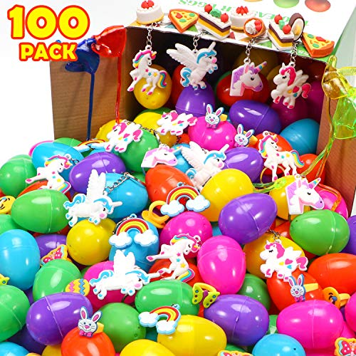 100 SETS Toy Filled Easter Eggs - 2 3/8
